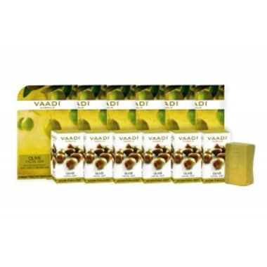 Vaadi Herbals Super Value Pack Of 6 Olive Facial Bars With Cane Sugar Extract