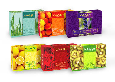 Vaadi Herbals Traditional Remedy - Pack Of 6 Luxurious Handmade Herbal Soaps