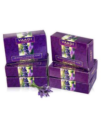 Vaadi Herbals Super Value Pack Of 6 Heavenly Lavender Soap (75gm Each)