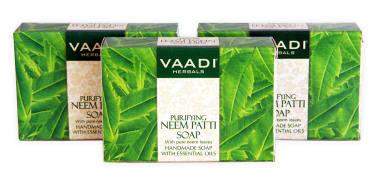 Vaadi Herbals Value Pack Of 3 Neem Patti Soap (75gm Each)