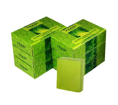 Vaadi Herbals Super Value Pack Of 6 Alluring Neem-tulsi Soap With Vitamin E & Tea Tree Oil (75gm)
