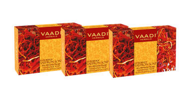 Vaadi Herbals Value Pack Of Luxurious Saffron Soap - Skin Whitening Therapy (75gm Each)