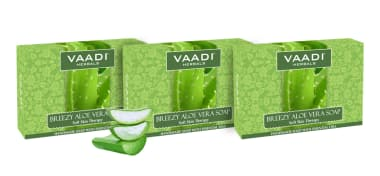 Vaadi Herbals Value Pack Of 3 Breezy Aloe Vera (75gm Each)