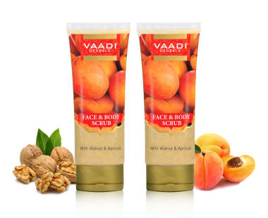 Vaadi Herbals Value Pack Of Face & Body Scrub With Walnut & Apricot Pack Of 2
