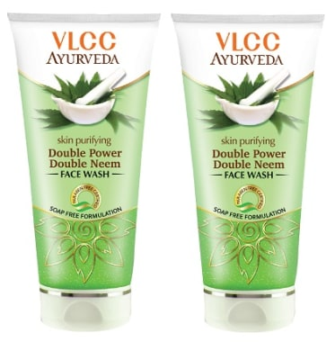 Vlcc Ayurveda Skin Purifying Double Power Double Neem Face Wash Pack Of 2