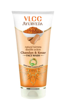 Vlcc Ayurveda Natural Fairness Double Action Chandan & Kesar Face Wash Pack Of 2