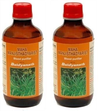 Baidyanath Maha Manjishthadyarishta Pack Of 2
