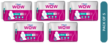 Vwash Wow Sanitary Napkin Maxi Xl Pack Of 5