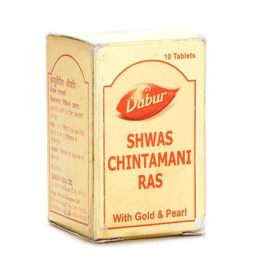 Dabur Shwas Chintamani Ras With Gold And Pearl Tablet