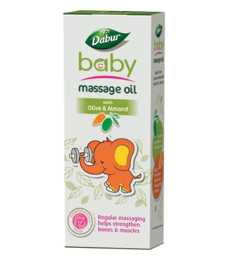 Dabur Baby Massage Oil With Olive & Almond