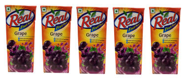 Dabur Real Fruit Power Grape Pack Of 5