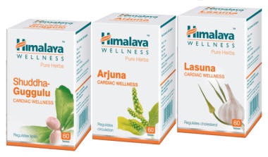 Himalaya Wellness Cardiac Care Combo Pack (arjuna 60 Tablets, Lasuna 60 Tablets, Shuddha Guggulu 60