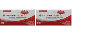 BD Insulin Syringes with BD Ultra-Fine Needle 40U 31G 6MM (Pack OF 2)
