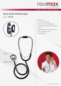 Rossmax EB200 Dual Head Stethoscope