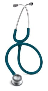 3M Littmann Classic II Pediatric Stethoscope, Caribbean Blue Tube, 28 inch, 2119
