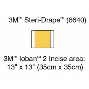 3M 6640 Ioban Antimicrobial Incise Drapes