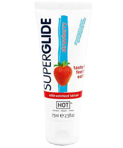 HOT Superglide Edible Waterbased Lubricant Strawberry