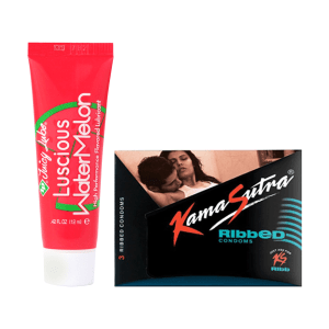 Thats Personal Combo Pack of ID Juicy Lube Lubricant 12 ml & KamaSutra Ribbed Condom