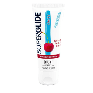 HOT Superglide Edible Waterbased Lubricant Cherry