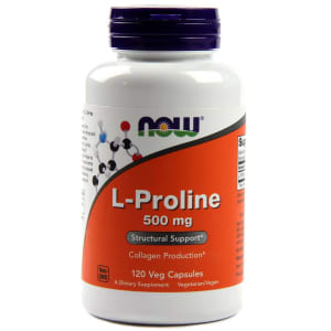 NOW Foods L-Proline 500mg Veg Capsule
