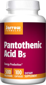 Jarrow Formulas Pantothenic Acid B5 500mg Capsule