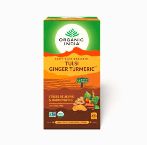 Organic India Tulsi Ginger Turmeric Tea