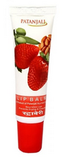 Patanjali Ayurveda Lip Balm Strawberry Pack of 2