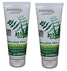 Patanjali Ayurveda Neem Aloevera with Cucumber Face Pack Pack of 2