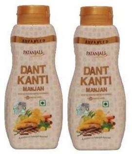 Patanjali Ayurveda Advance Dant Kanti Manjan Pack of 2