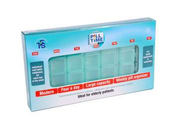 Family's Pill Time Box Weekly