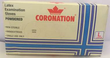 Coronation Latex Examination Gloves 100 (large)
