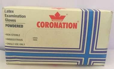 Coronation Latex Examination Gloves 100 (medium)