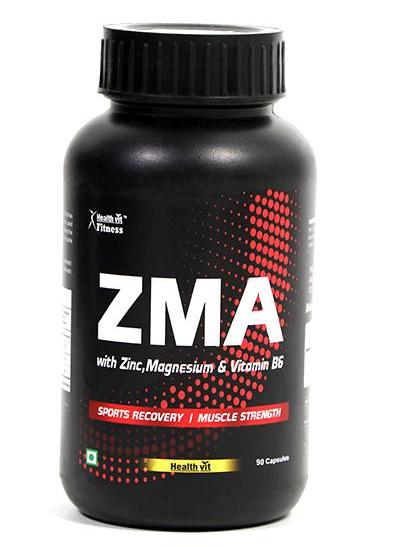 Pack of 4 HealthVit Fitness ZMA (Zinc,Magnesium & Vitamin B6) Capsules 90's