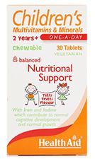HealthAid Childrens Multivitamins & Minerals Tablet 30's