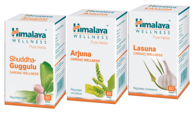 Himalaya Cardiac Care Combo Pack Arjuna 60 Tablets, Lasuna 60 Tablets, Shuddha Guggulu 60 Tablet