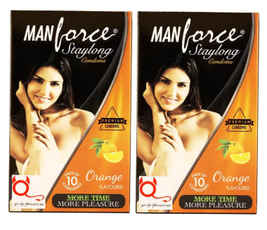 Manforce Staylong Condom Orange Pack Of 2