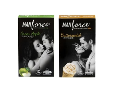 Manforce Condom Combo (butterscotch + Green Apple)