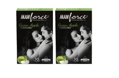 Manforce Condom Green Apple Pack Of 2