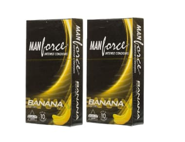 Manforce Intense Condom Banana Pack Of 2