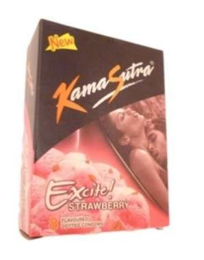 Kamasutra Excite Condom Strawberry