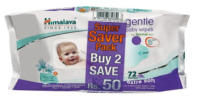 Himalaya Gentle Baby Wipes (72 Each) Super Saver Pack