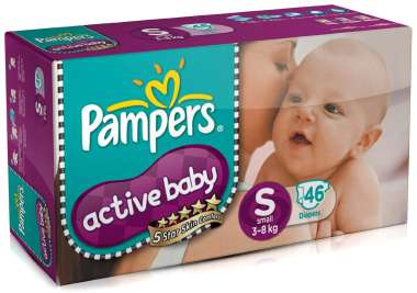 Pampers Active Baby Diaper S