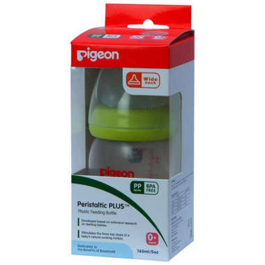 Pigeon Nursing Bottle With Plus Type Nipple Green