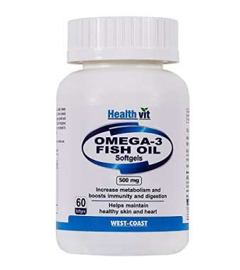 Healthvit Omega-3 Fish Oil 500mg Softgels