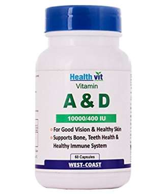 Healthvit Vitamin A & D 10000/400 Iu Capsule