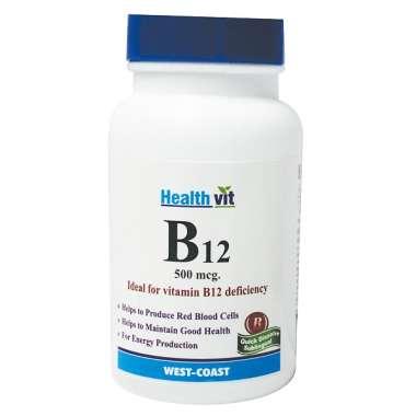 Healthvit B12 500mcg Tablet
