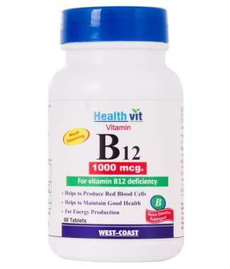 Healthvit Vitamin B12 1000mcg Tablet