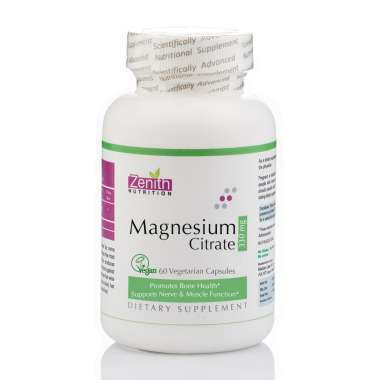 Zenith Nutrition Magnesium Citrate 330mg Capsule