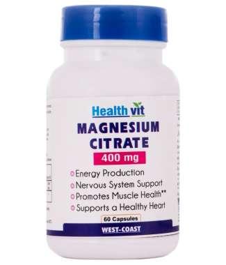 Healthvit Magnesium Citrate 400mg Capsule
