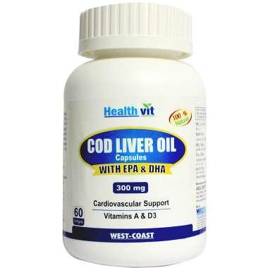 Healthvit Cod Liver Oil 300mg Capsule